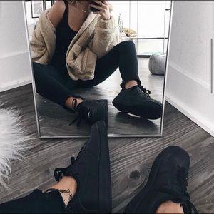 Nike Air Force 1 triple black shoes